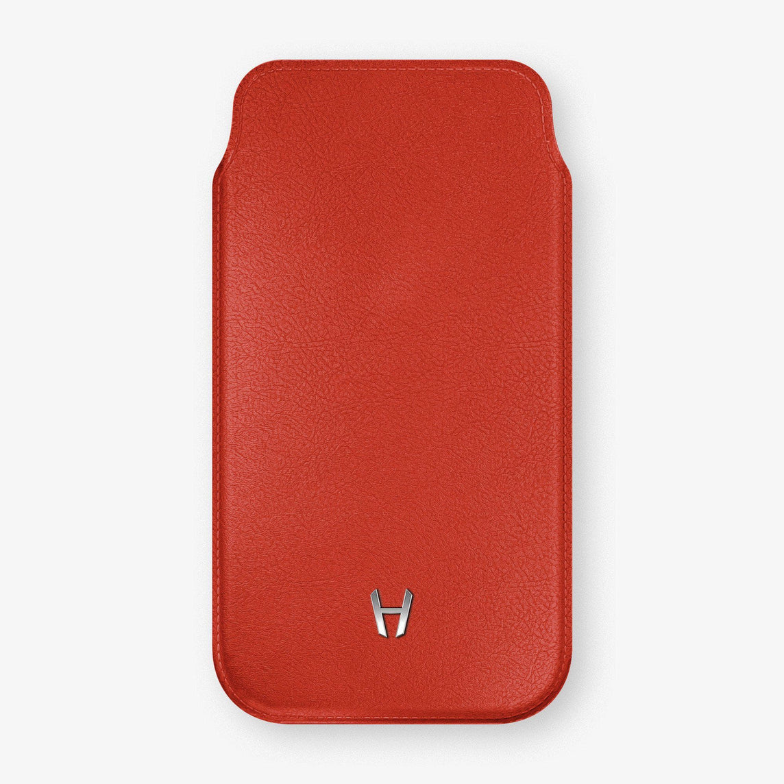 Calfskin Sleeve Case iPhone 11 Pro | Red - Stainless Steel