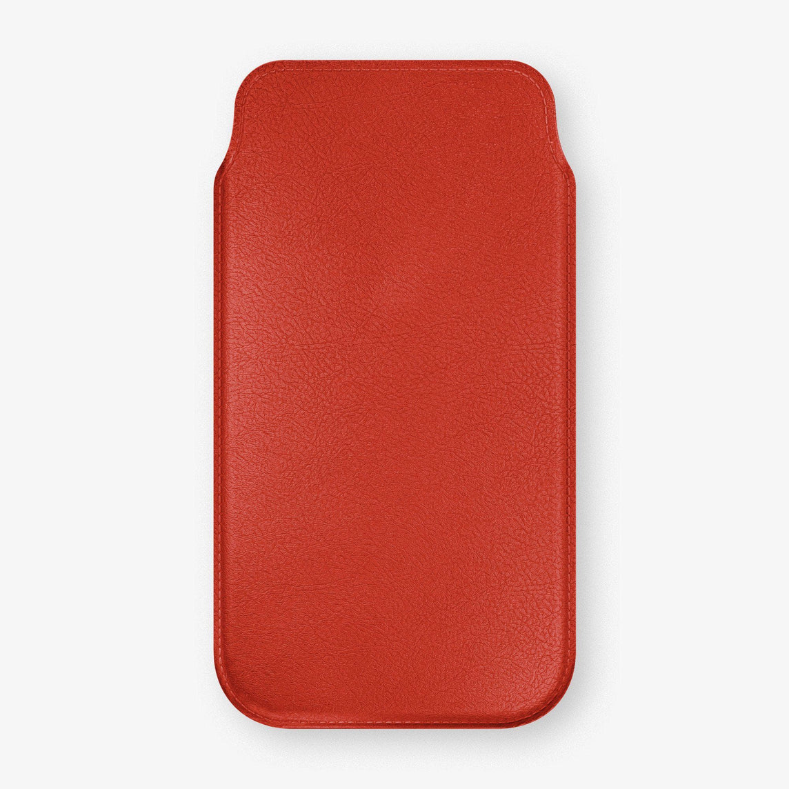 Calfskin Sleeve Case iPhone 11 Pro Max | Red - Stainless Steel