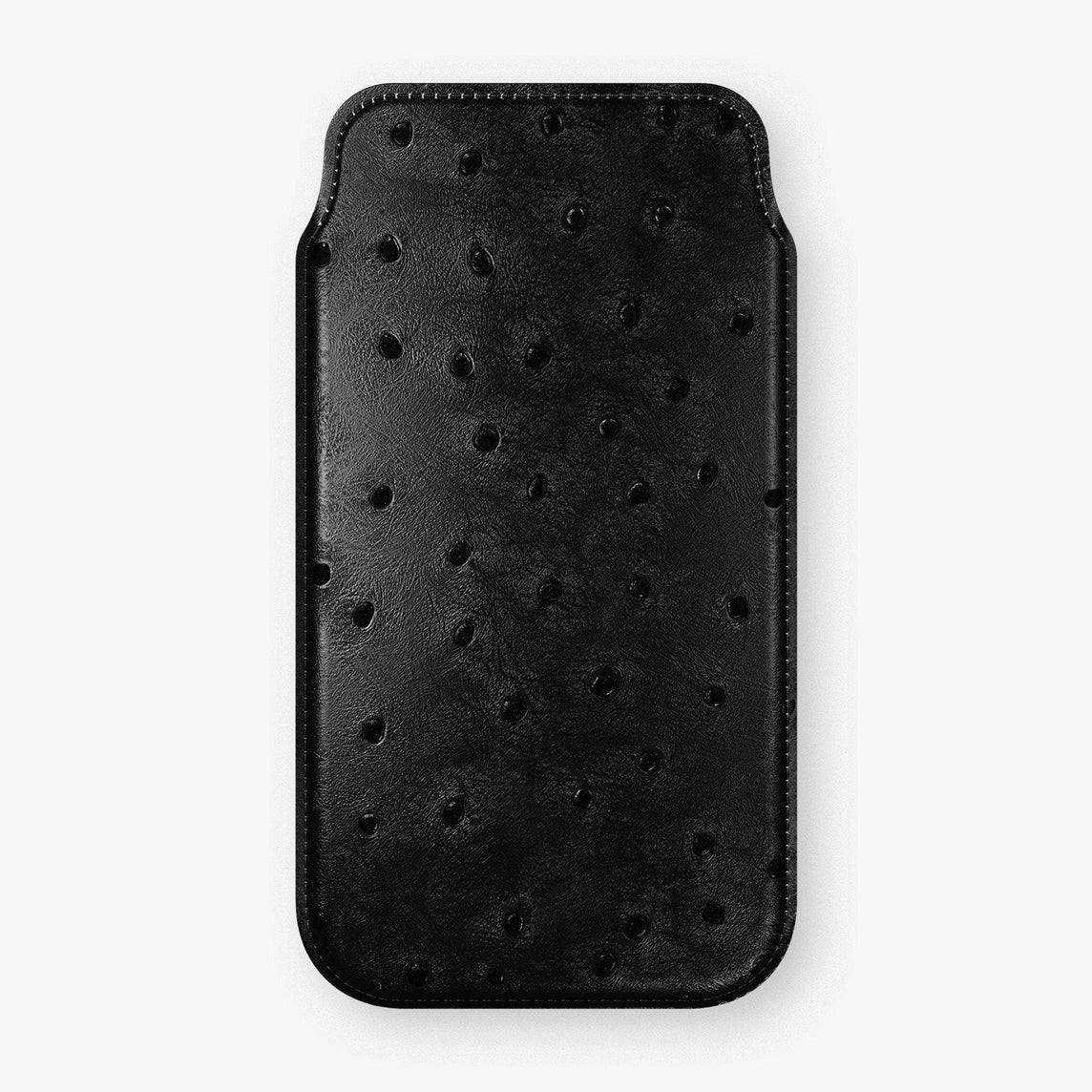 Ostrich Sleeve Case iPhone 11 Pro | Black - Stainless Steel