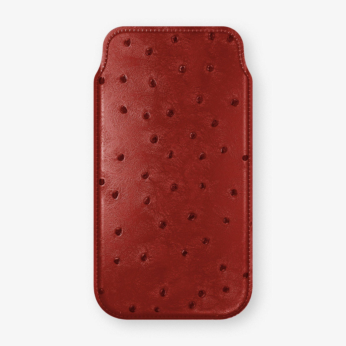 Ostrich Sleeve Case iPhone 11 Pro | Red - Stainless Steel