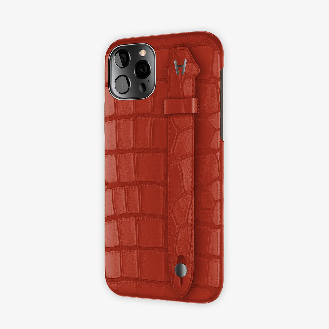 Alligator Side Finger Case iPhone 12 & iPhone 12 Pro | Red Ruby/Red Ruby -Black