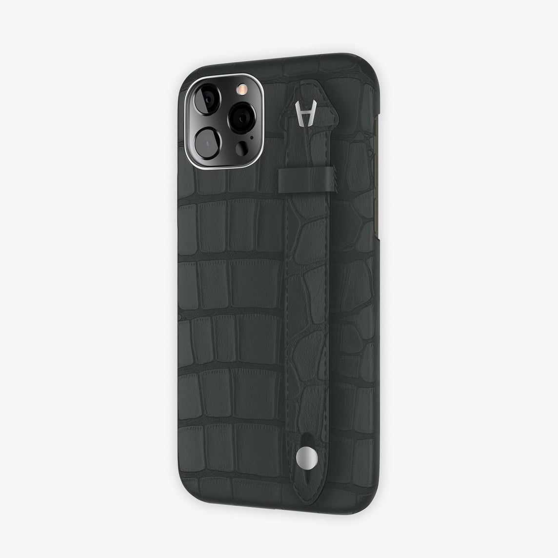 Alligator Side Finger Case iPhone 12 Pro | Anthracite/Anthracite -Stainless Steel