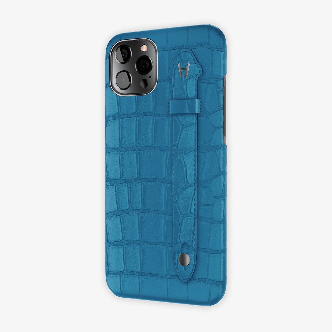 Alligator Side Finger Case iPhone 12 Pro Max | Blue Lagoon/Blue Lagoon - Black
