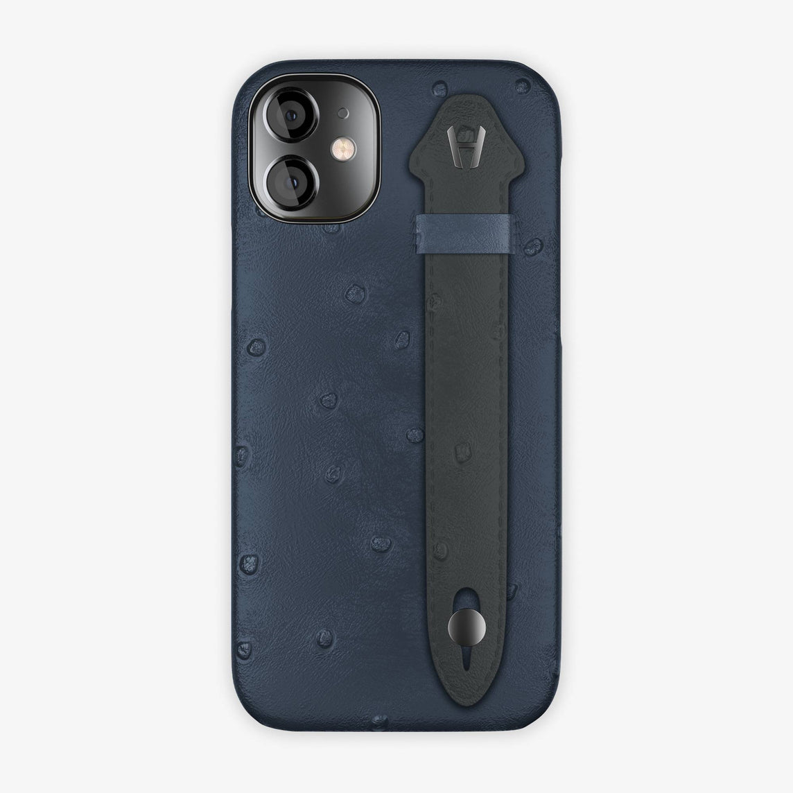 Ostrich Side Finger Case iPhone 12 Mini | Navy Blue/Anthracite - Black