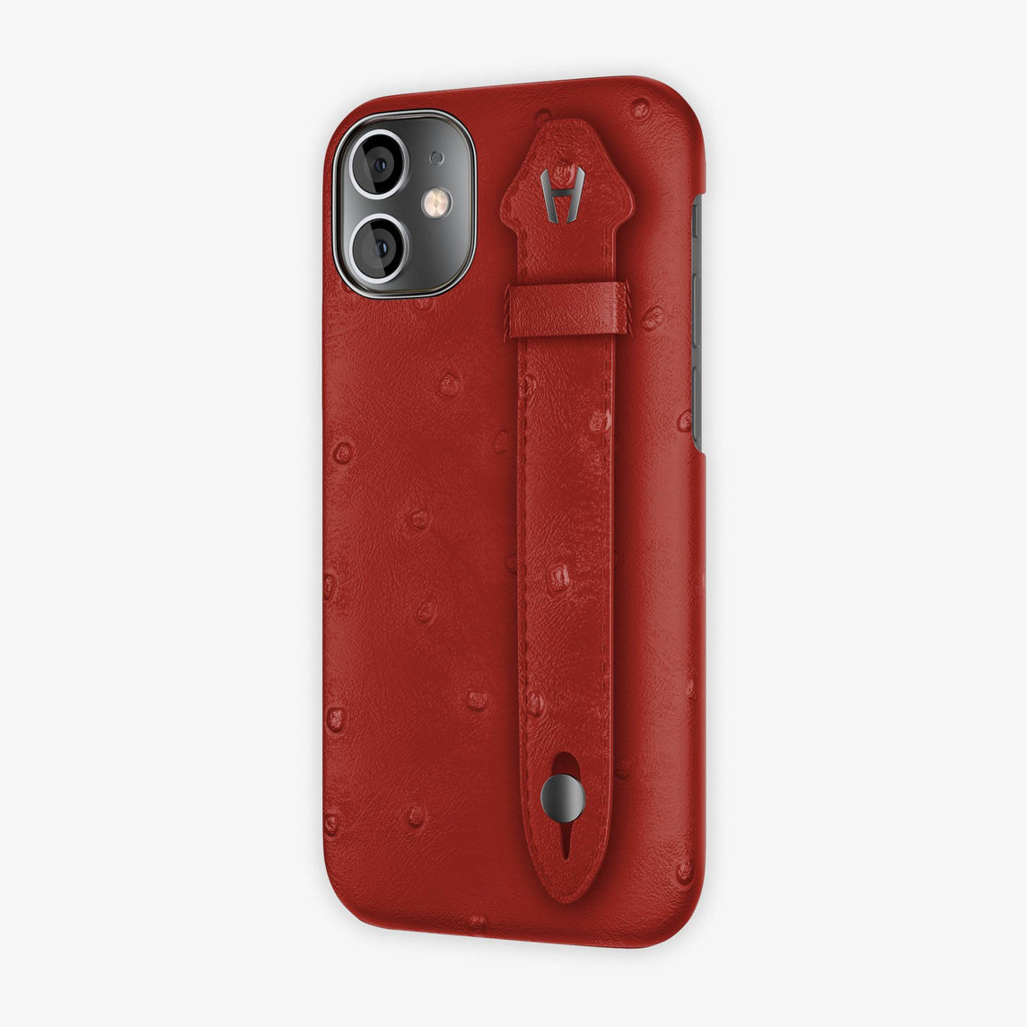Ostrich Side Finger Case iPhone 12 Mini | Red/Red - Black