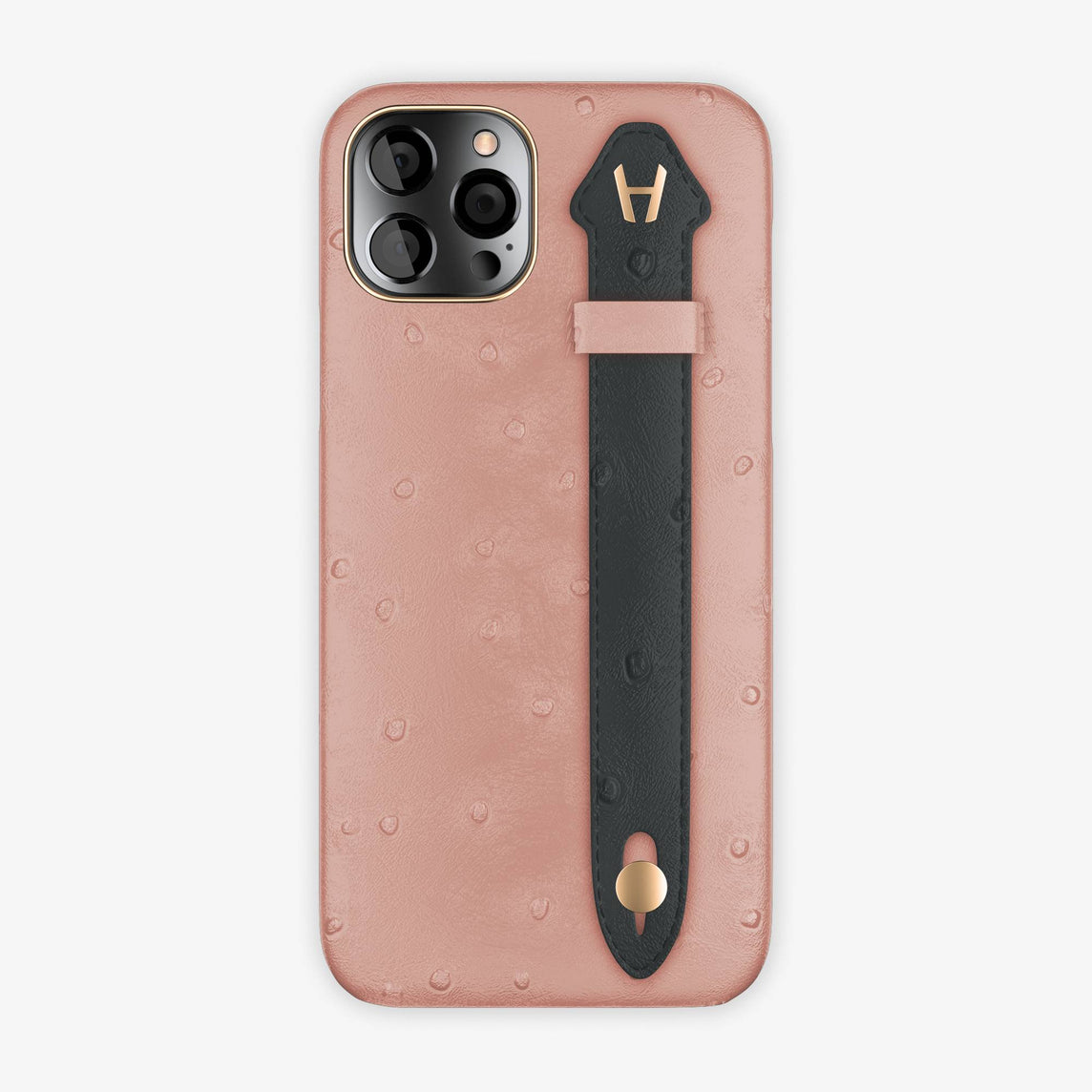 Ostrich Side Finger Case iPhone 12 Pro | Pink/Anthracite - Rose Gold