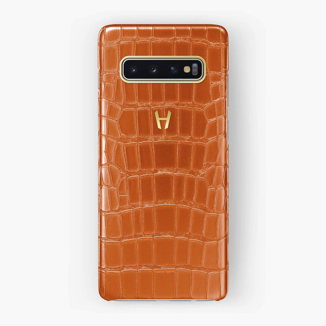 Alligator Case Samsung S10 | Orange - Yellow Gold