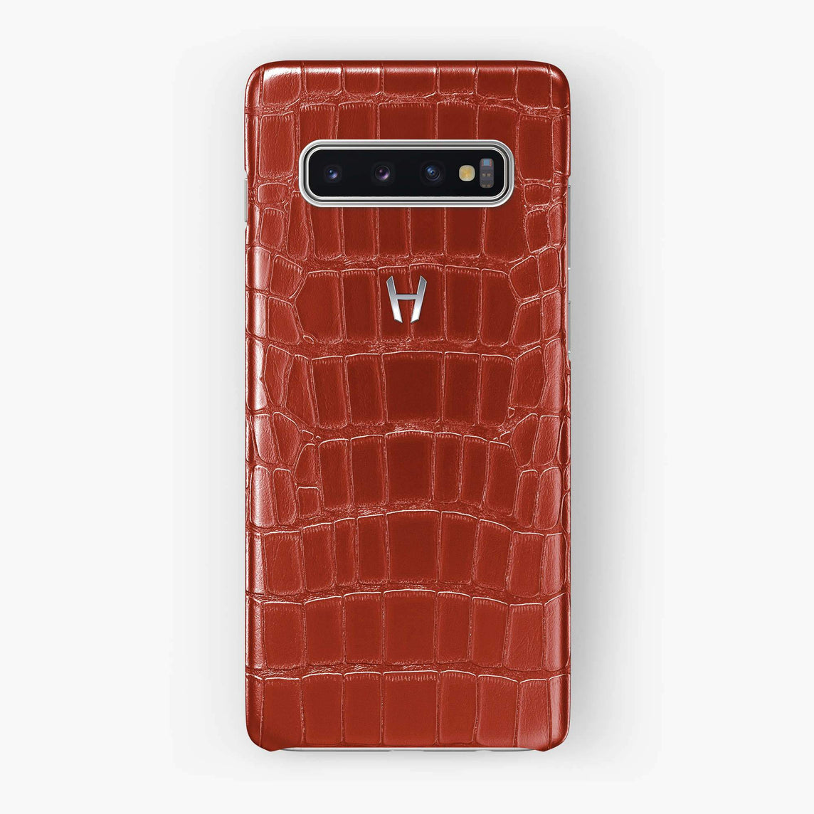 Alligator Case Samsung S10 Plus | Red - Stainless Steel
