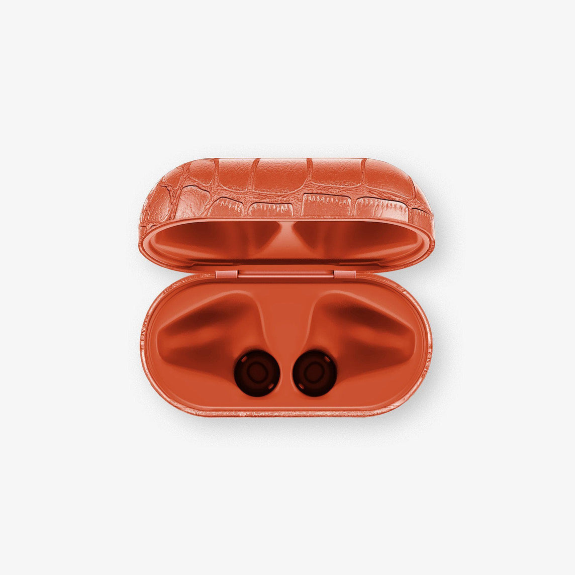 Alligator Wireless Charging Case for AirPod | Orange Sunset - Stainless Steel