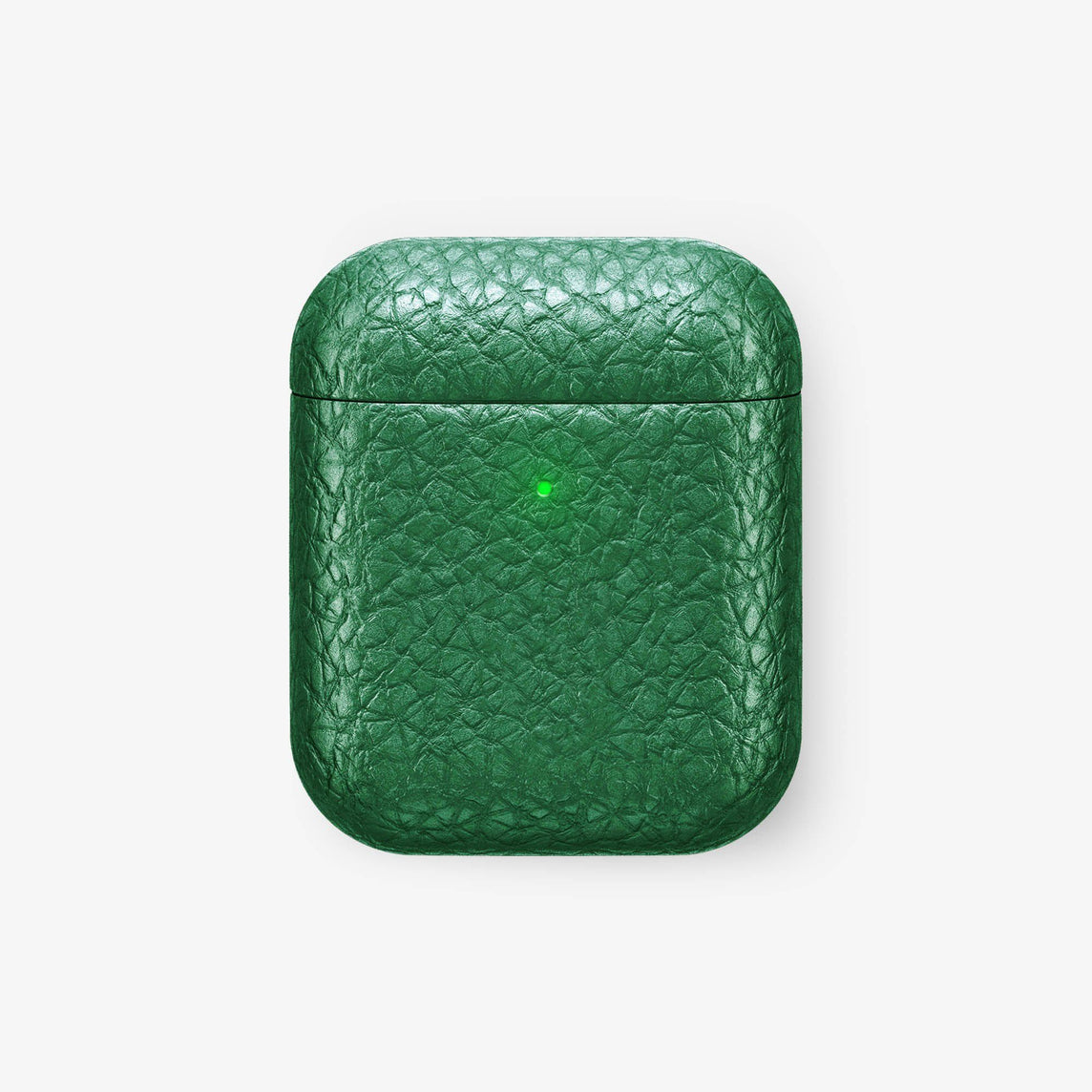 Wireless Charging Case for Airpod Calfskin [colour:green] [finishing:rose gold] with-personalization