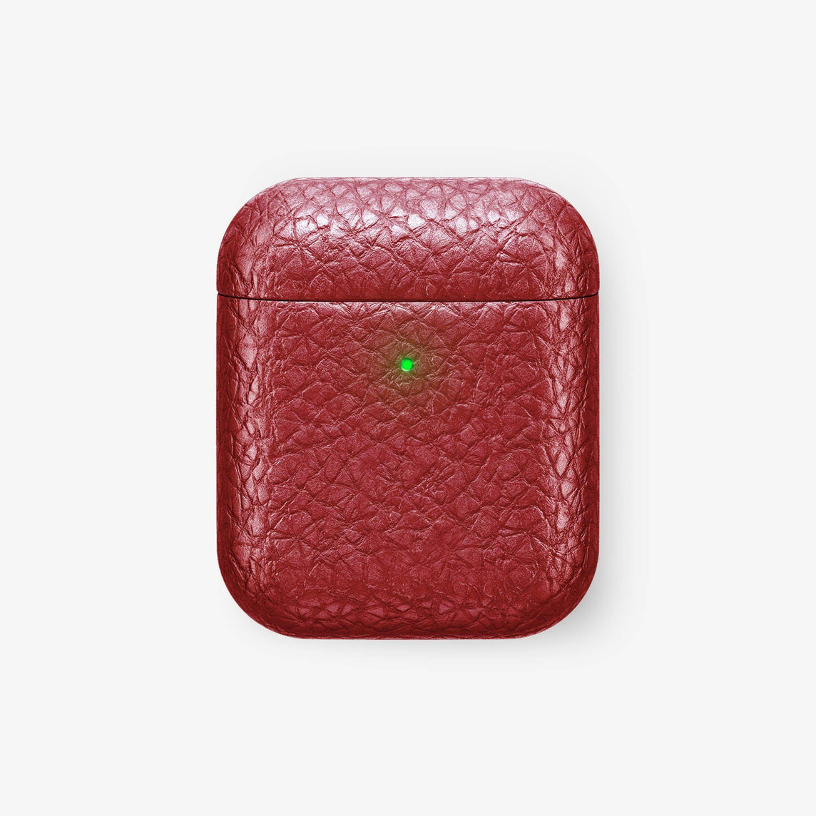 Wireless Charging Case for Airpod Calfskin [colour:red] [finishing:rose gold] with-personalization