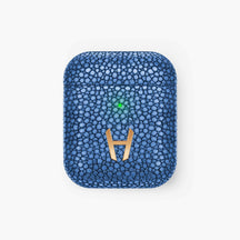 Hadoro Wireless Charging Case for Airpods Stingray | Blue - Rose Gold