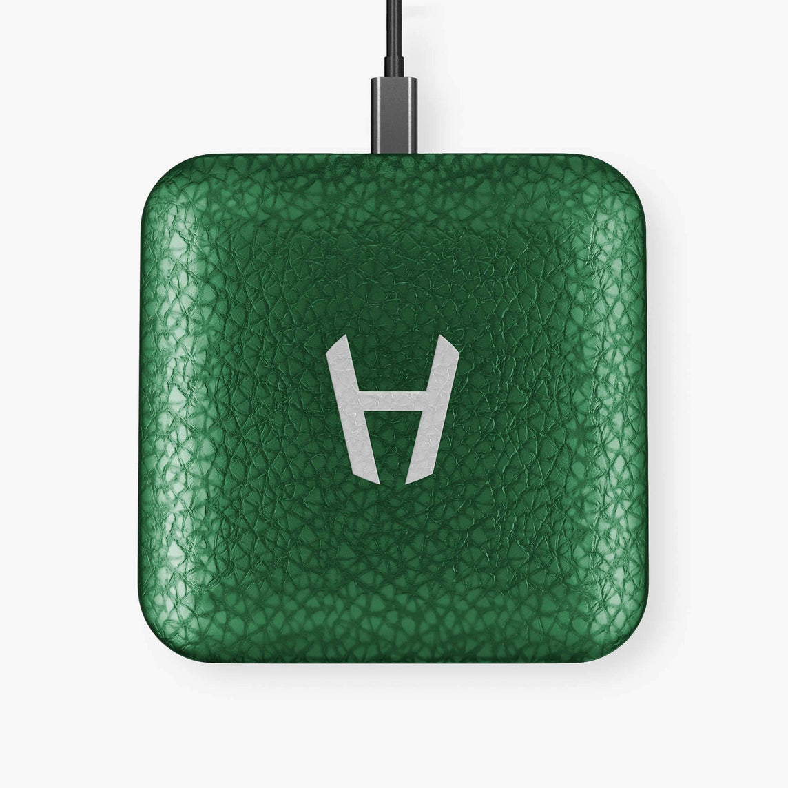 Hadoro Wireless Charging Pad Calfskin | Green - Stainless Steel without-personalization