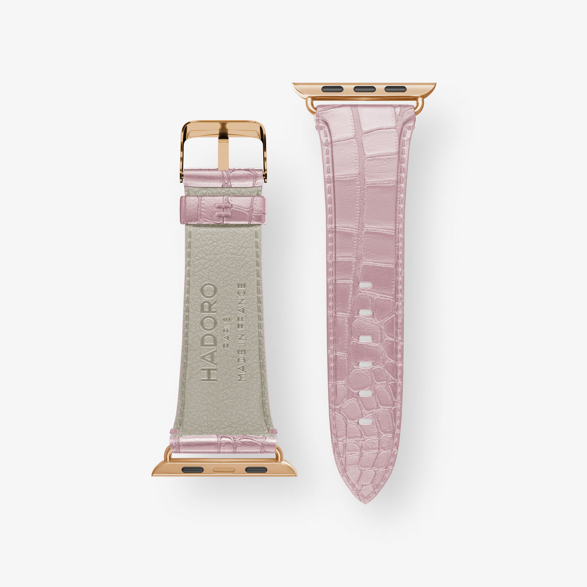 Alligator Watch Straps Apple Watch 38mm | Pink Poudre - Rose Gold