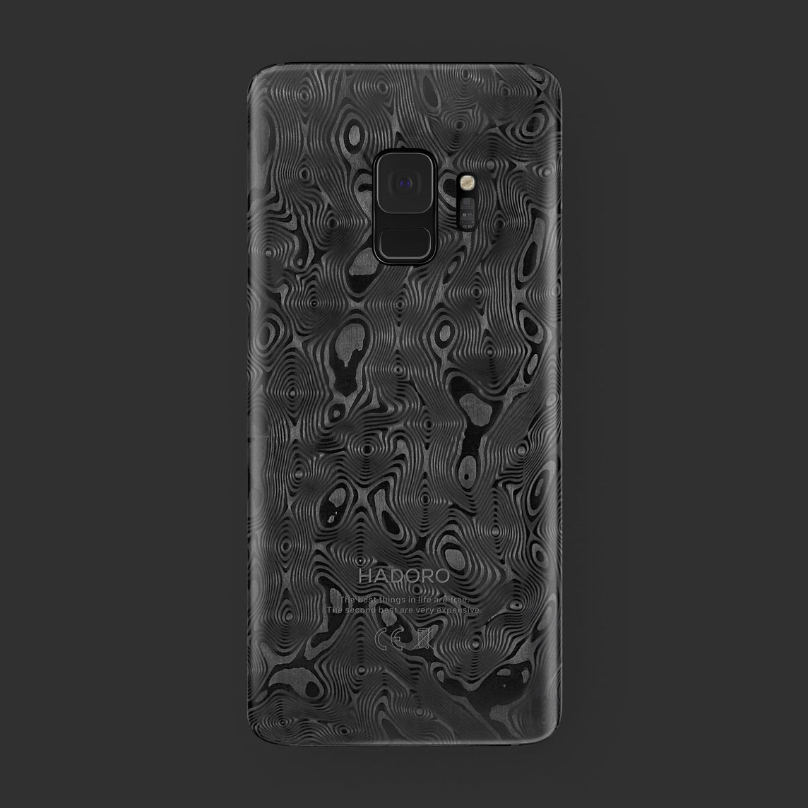 Hadoro Samsung Galaxy S9 [Black Alligator] [model:custom-samsung-s9] [colour:carbon]
