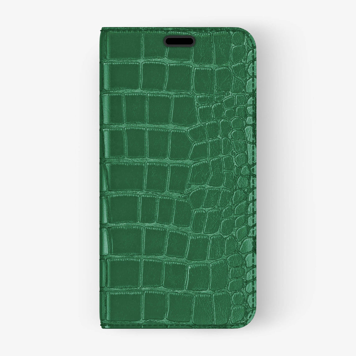 Alligator Folio Case iPhone Xs Max | Green - Black without-personalization