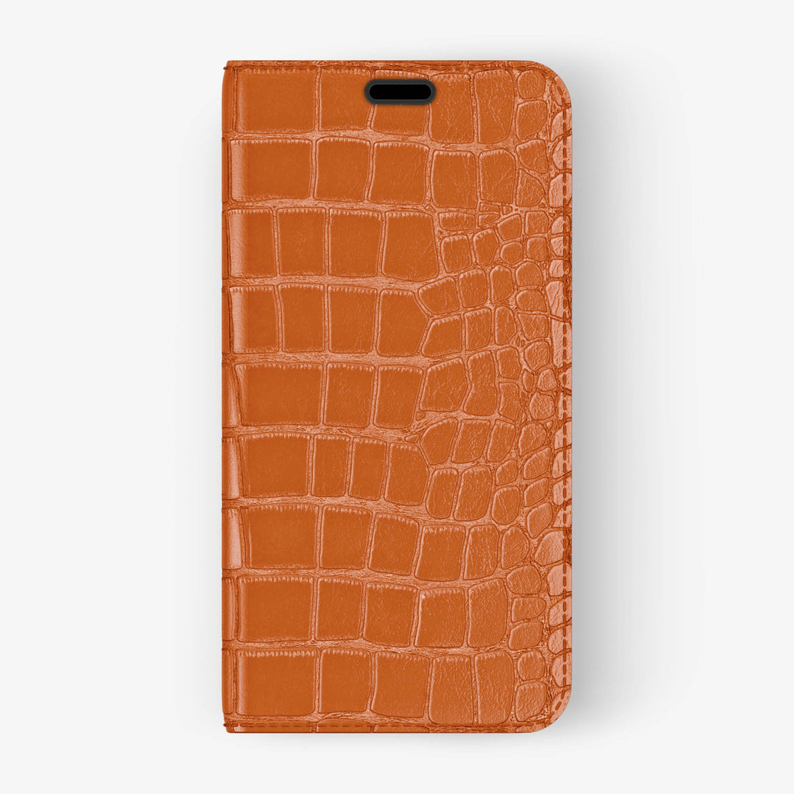 Alligator Folio Case iPhone Xs Max | Orange - Black