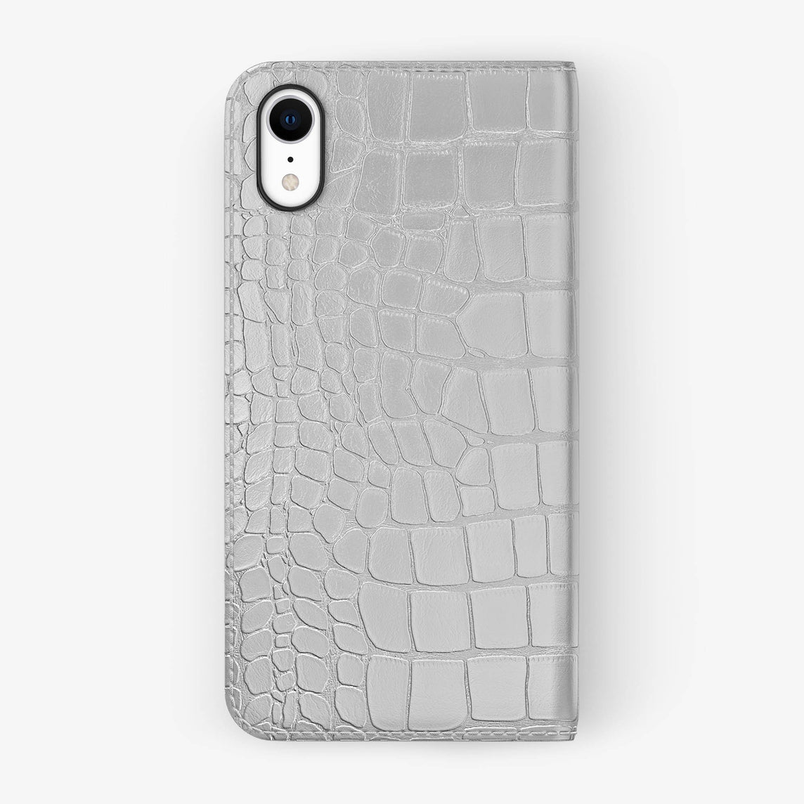 Alligator [iPhone Folio Case] [model:iphone-xr-case] [colour:white] [finishing:black]