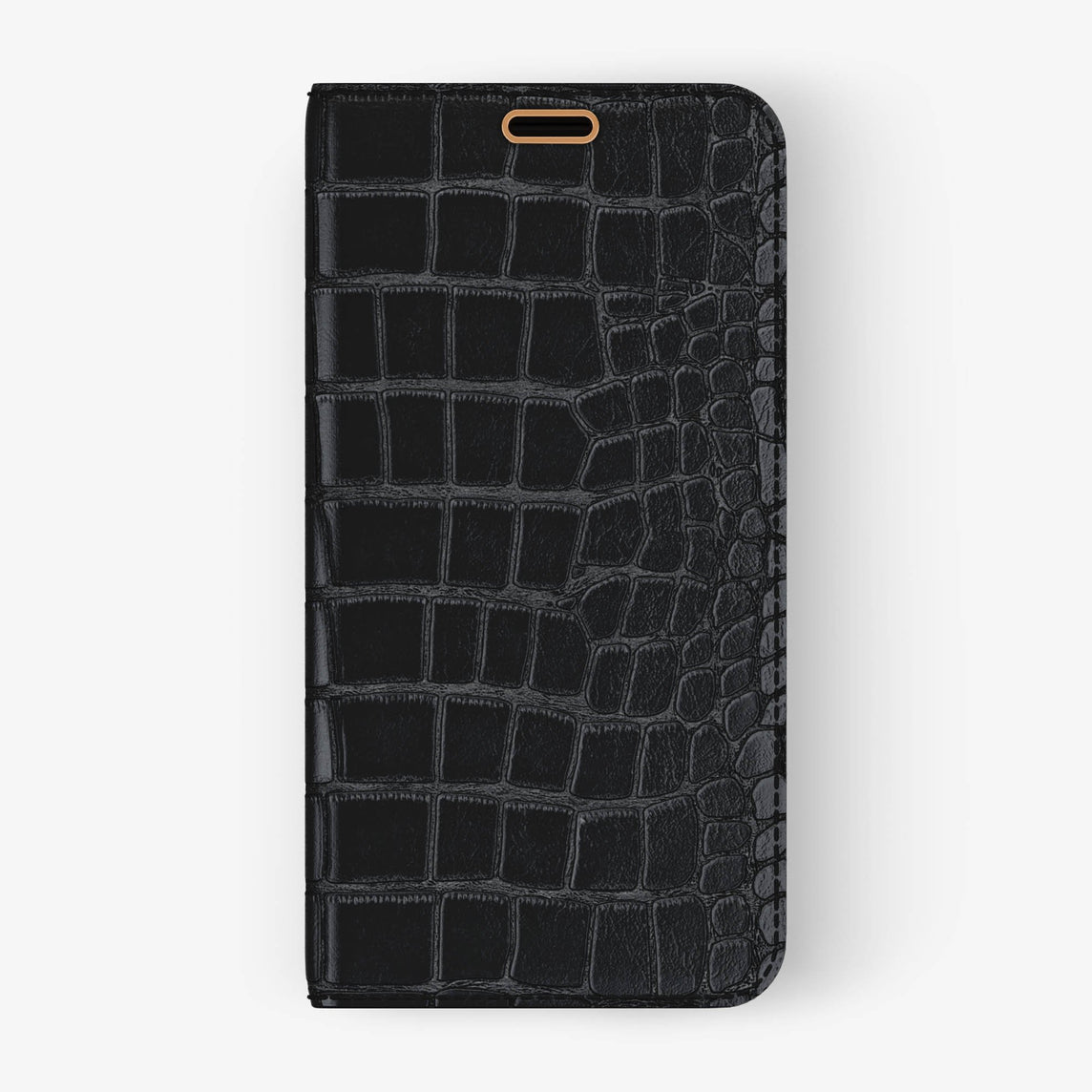 Alligator Folio Case iPhone X/Xs | Black - Rose Gold