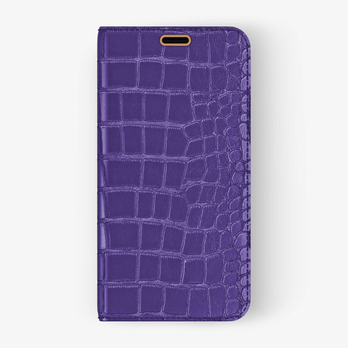 Alligator Folio Case iPhone X/Xs | Purple - Rose Gold without-personalization