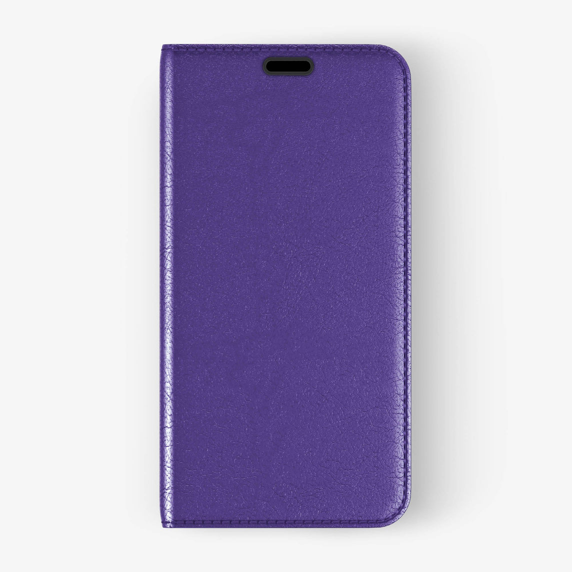 Calfskin Folio Case iPhone X/Xs | Violet - Black