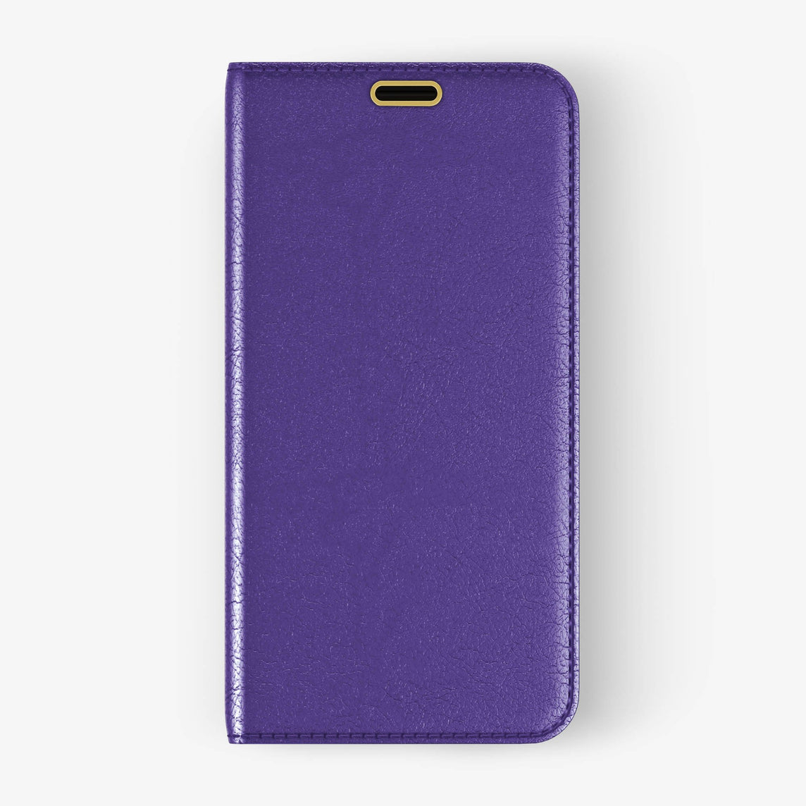 Calfskin Folio Case iPhone Xs Max | Violet - Yellow Gold