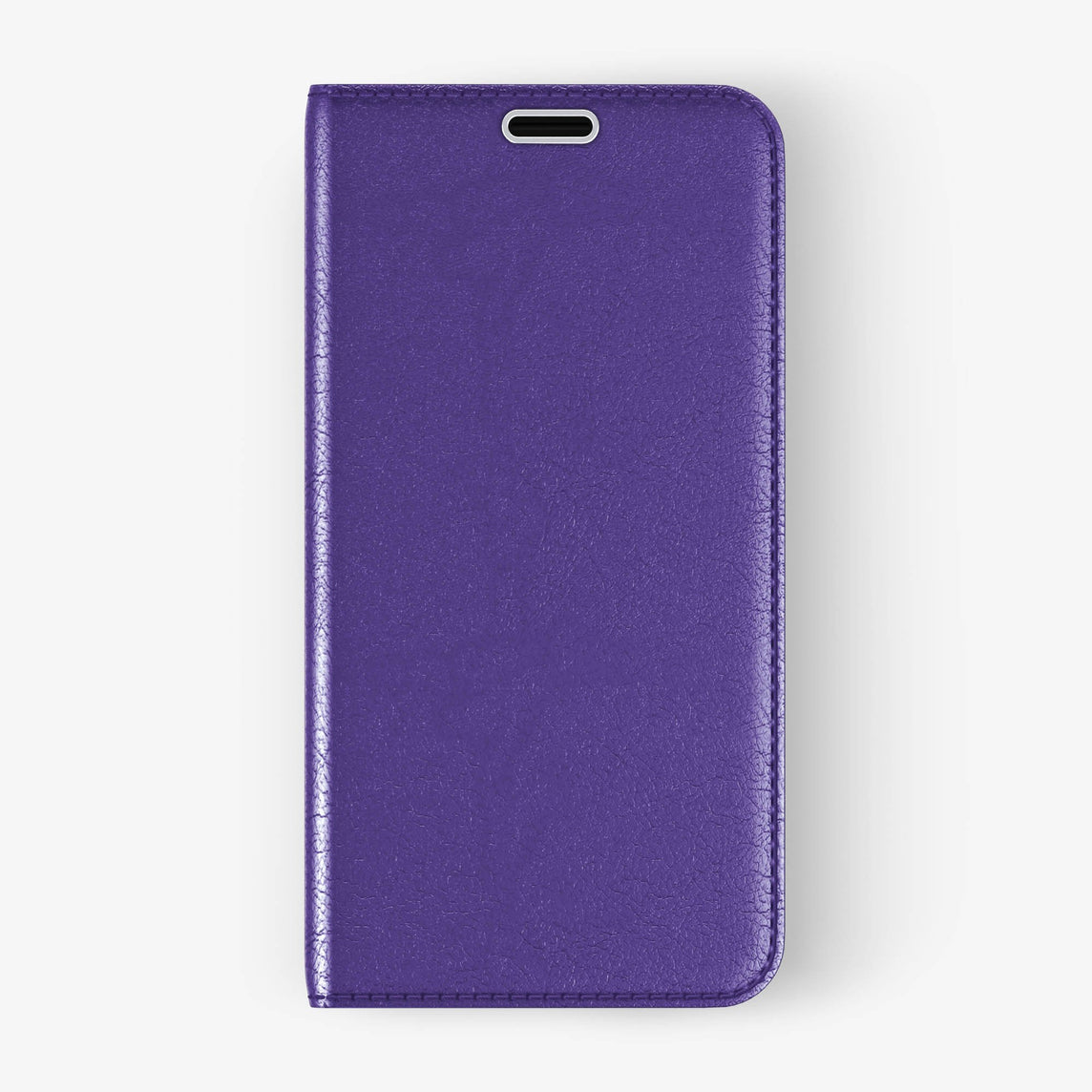 Calfskin Folio Case iPhone Xs Max | Violet - Stainless Steel
