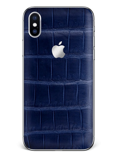 Hadoro iPhone X  Signature Steal Alligator Navy Blue - Hadoro
