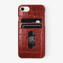 Alligator [iPhone Card Holder Case] [model:iphone-7-8-case] [colour:red] [finishing:yellow-gold] - Hadoro