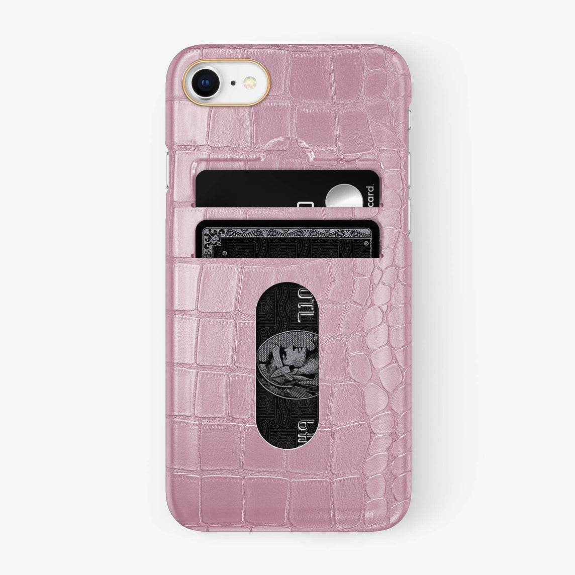 Alligator [iPhone Card Holder Case] [model:iphone-7-8-case] [colour:pink] [finishing:rose-gold] - Hadoro