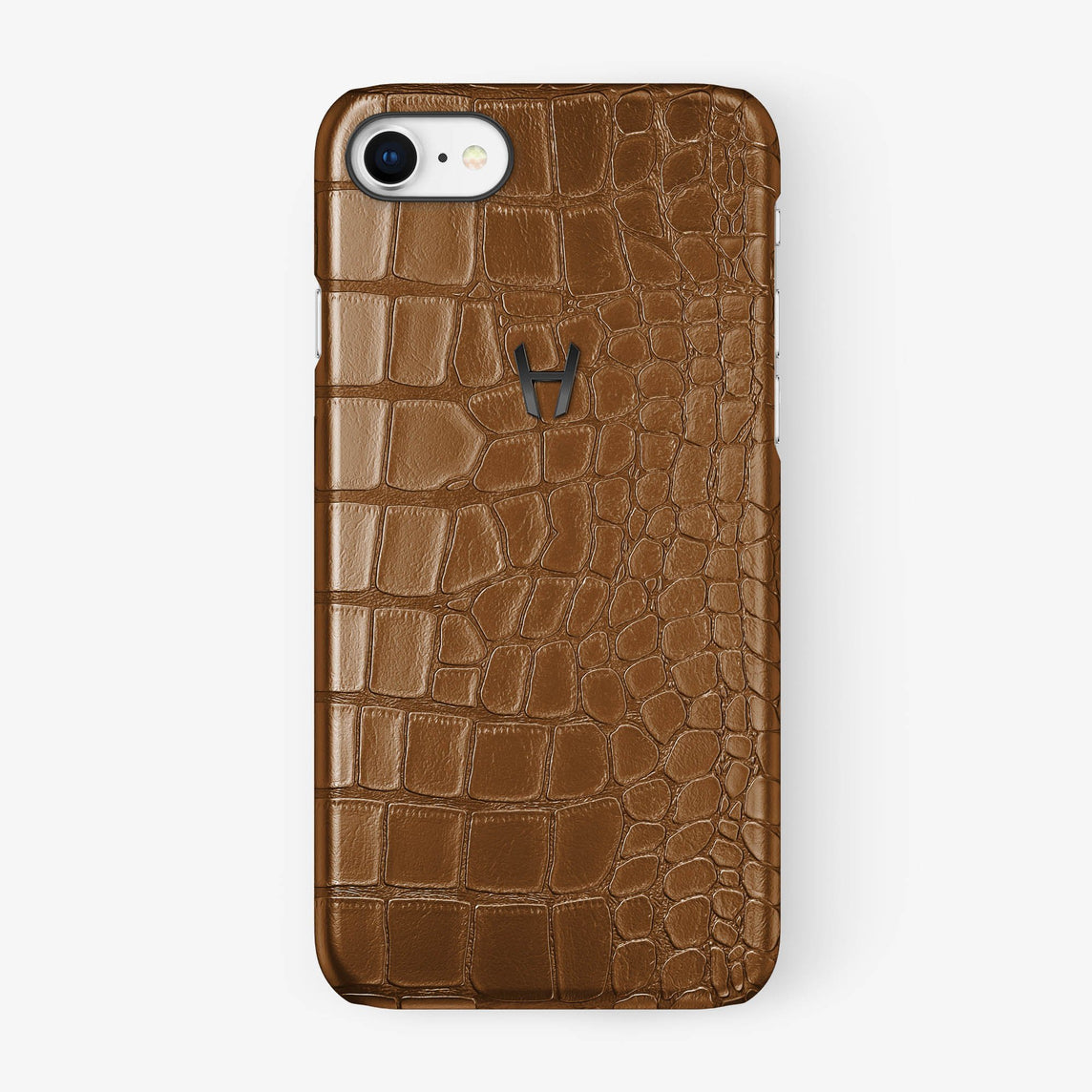 Alligator Case iPhone 7/8 | Cognac - Black