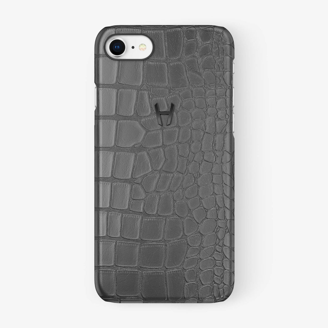Alligator Case iPhone 7/8 | Grey - Black - Hadoro