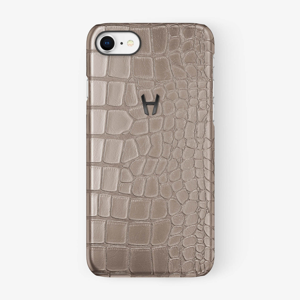 Alligator Case iPhone 7/8 | Latte - Black
