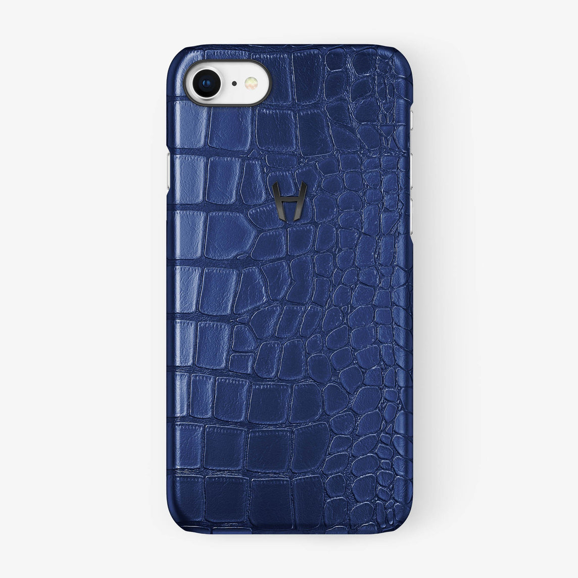 Alligator Case iPhone 7/8 | Navy Blue - Black - Hadoro