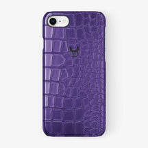 Alligator Case iPhone 7/8 | Purple - Black