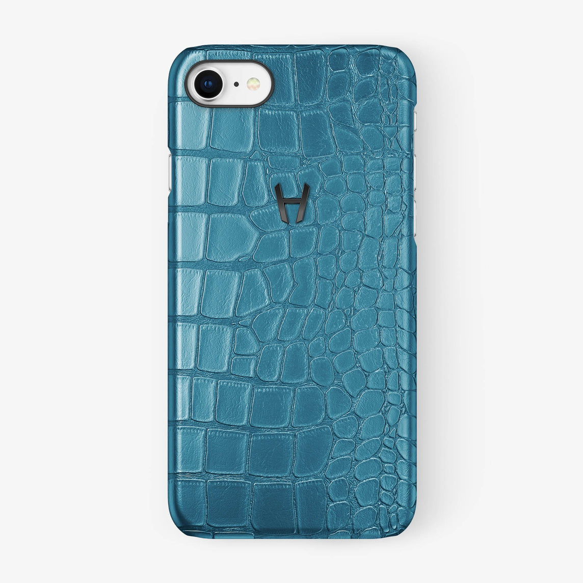 Alligator Case iPhone 7/8 | Teal - Black