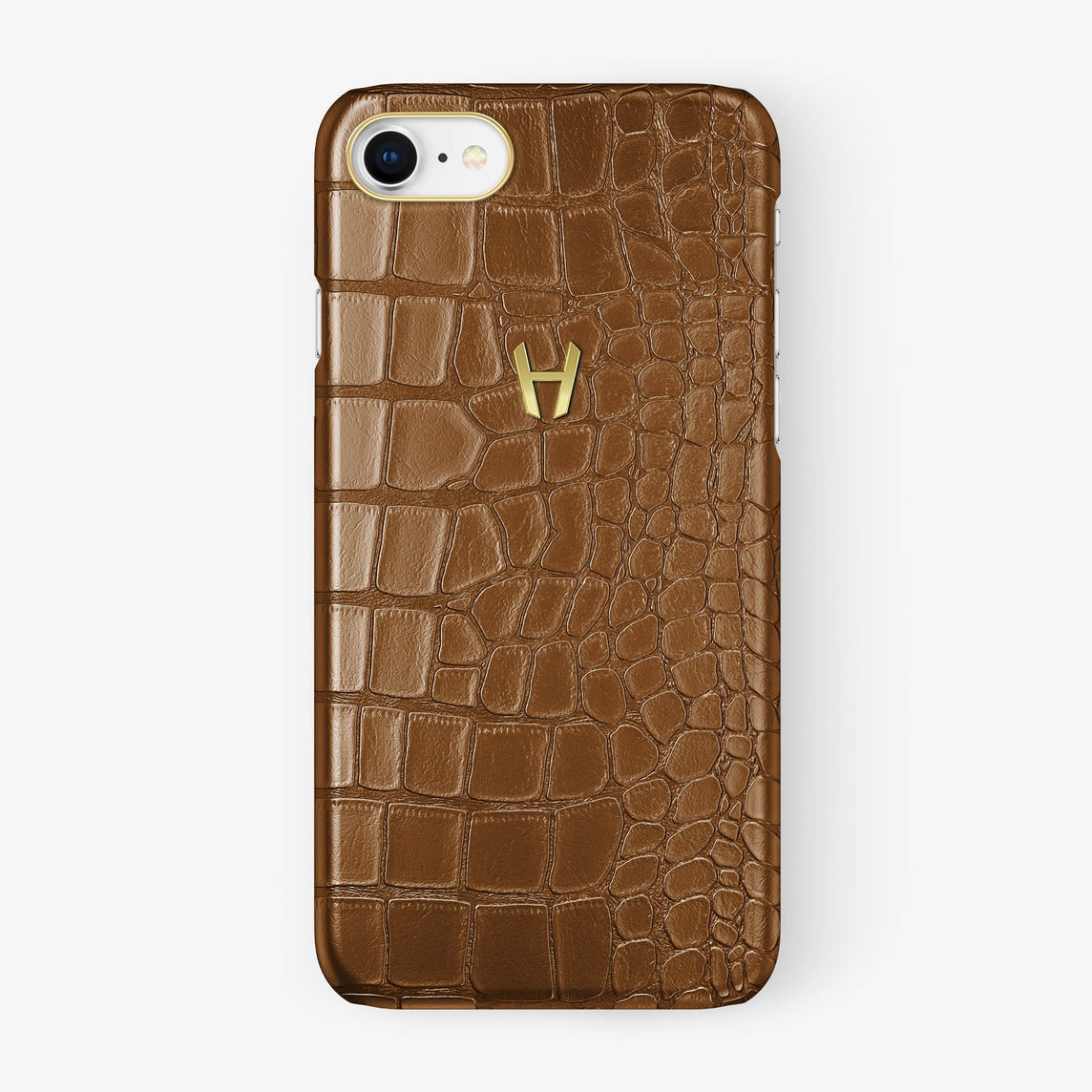 Alligator Case iPhone 7/8 | Cognac - Yellow Gold - Hadoro
