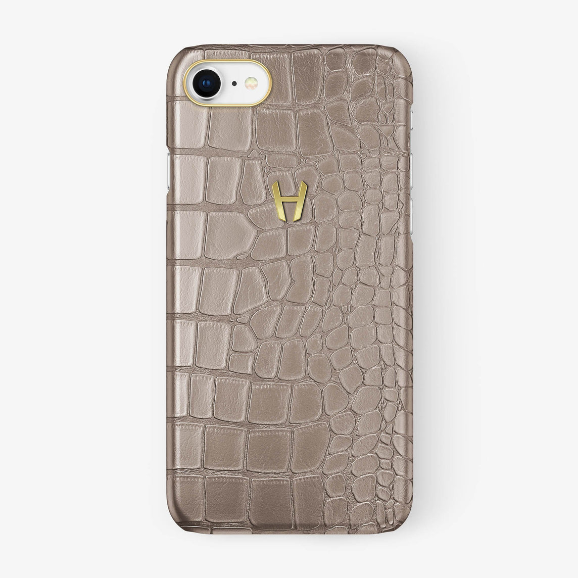 Alligator Case iPhone 7/8 | Latte - Yellow Gold