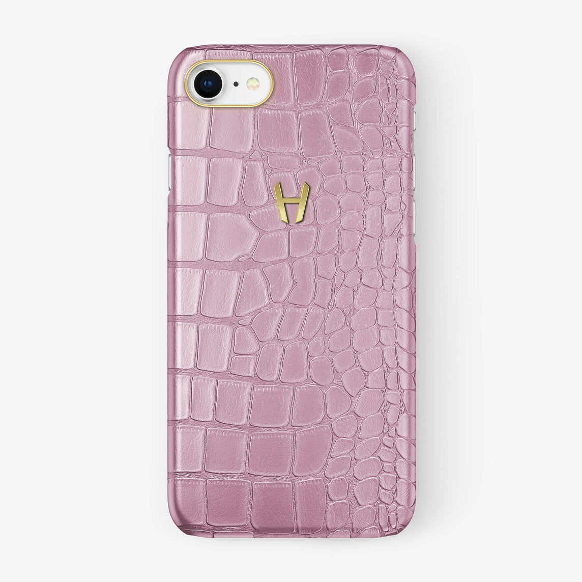 Alligator Case iPhone 7/8 | Pink - Yellow Gold