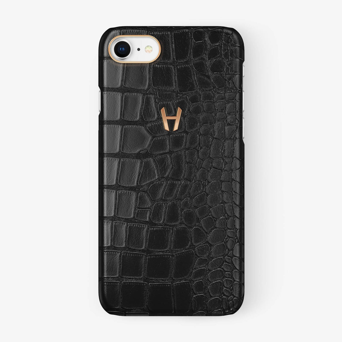 Alligator Case iPhone 7/8 | Black - Rose Gold