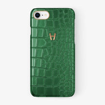 Alligator Case iPhone 7/8 | Green - Rose Gold - Hadoro