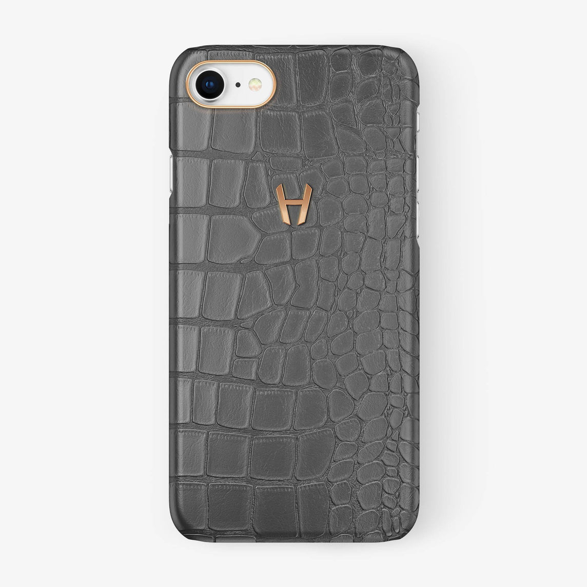 Alligator Case iPhone 7/8 | Grey - Rose Gold