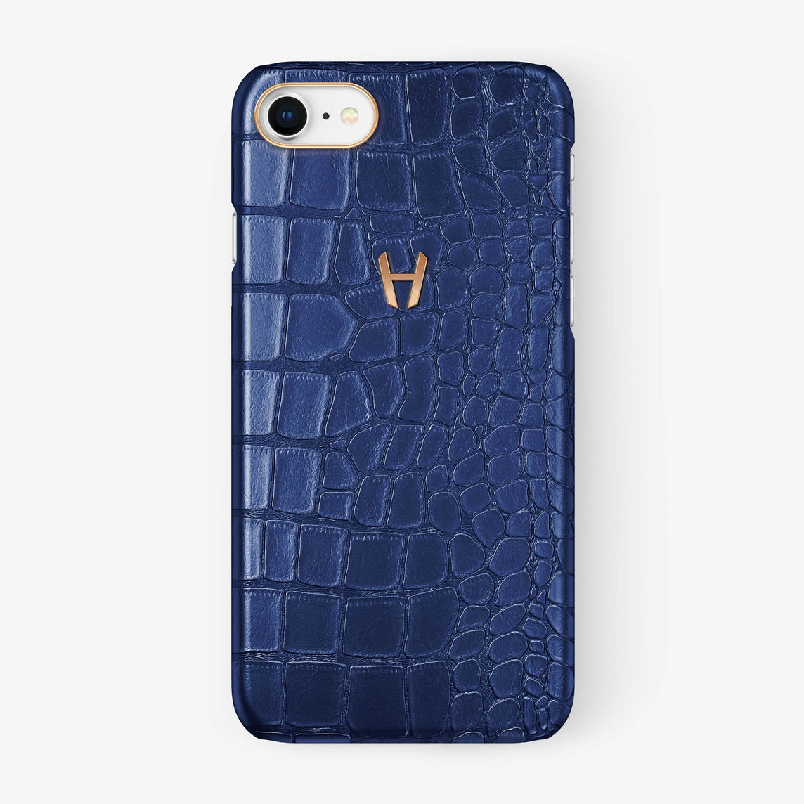 Alligator Case iPhone 7/8 | Navy Blue - Rose Gold