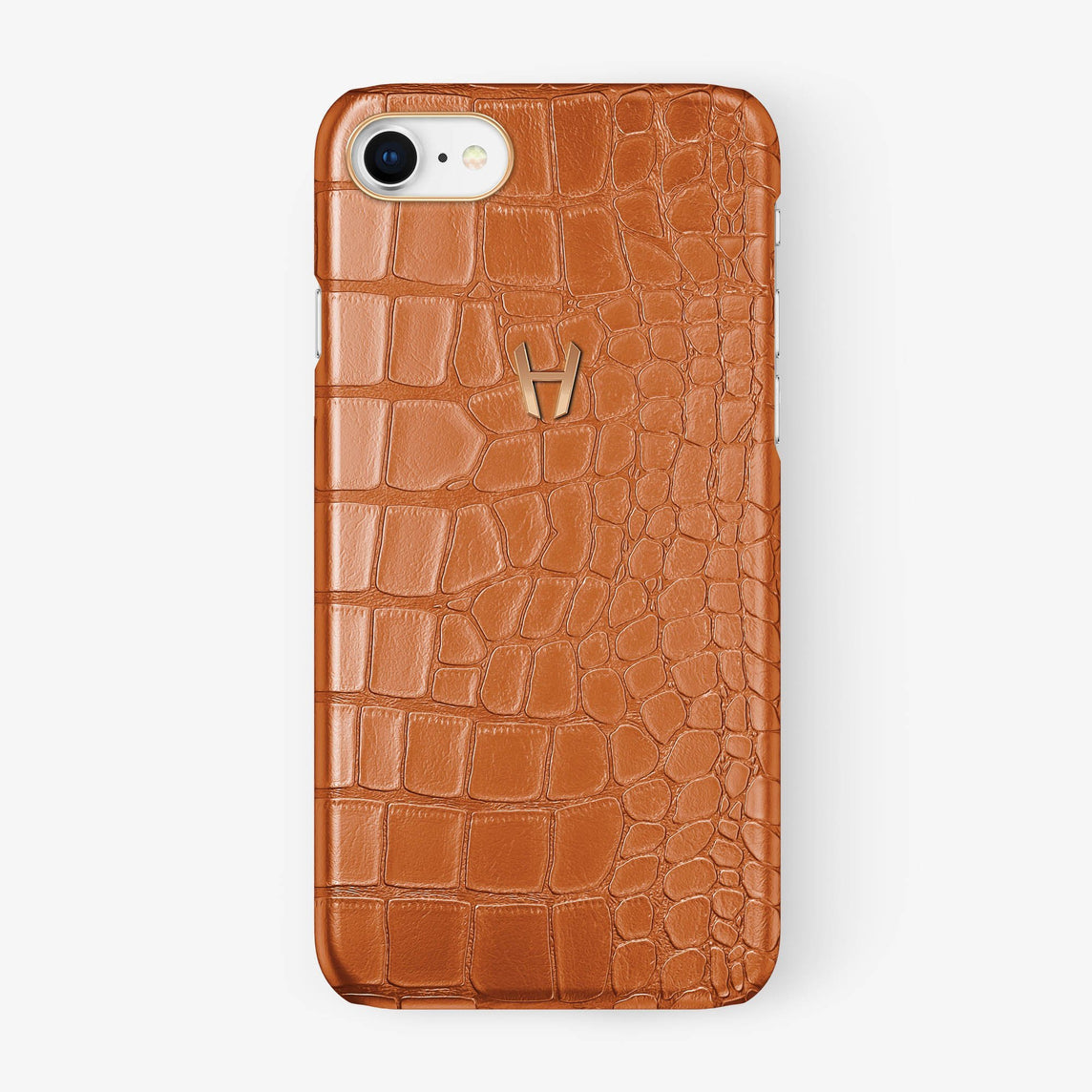 Alligator Case iPhone 7/8 | Orange - Rose Gold