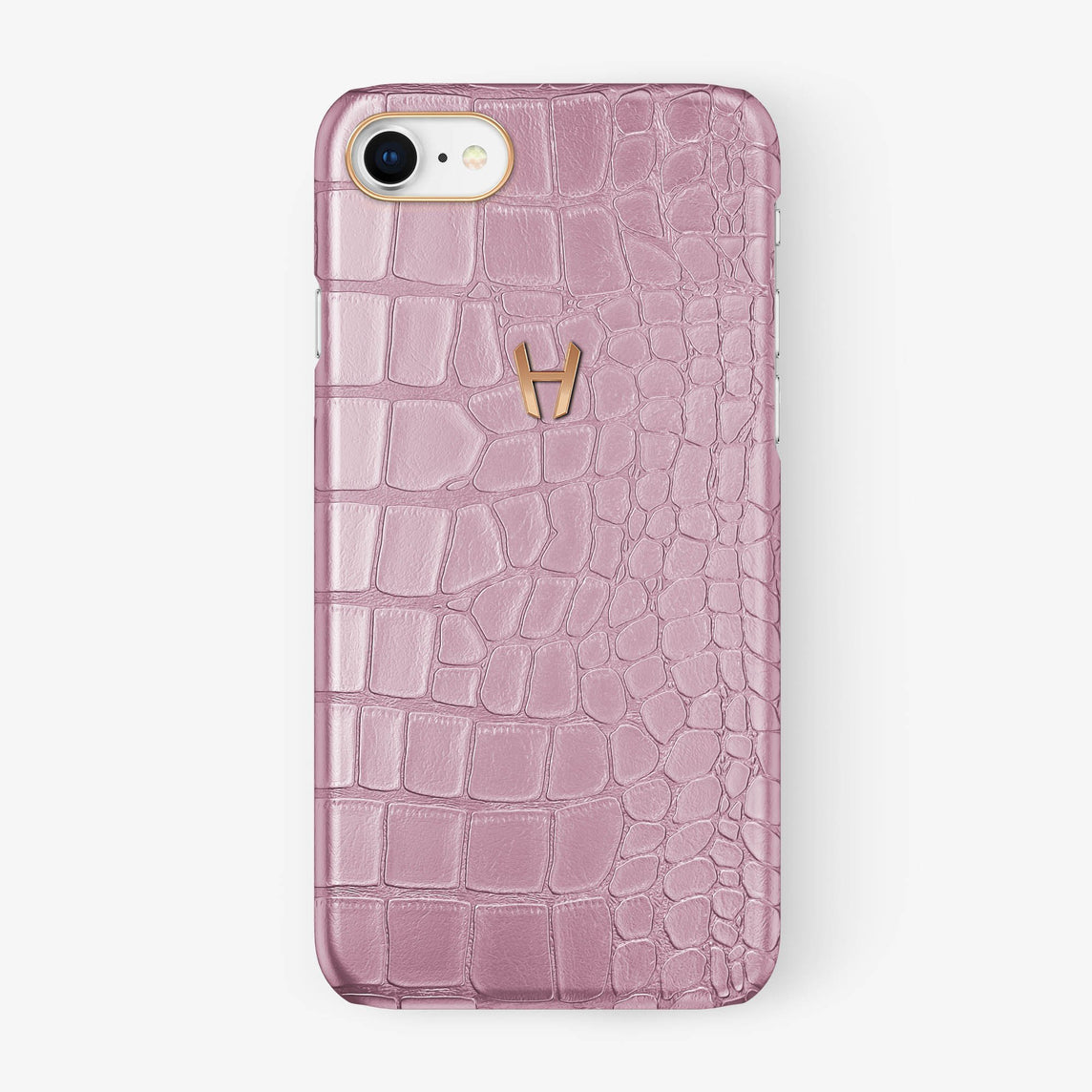 Alligator Case iPhone 7/8 | Pink - Rose Gold - Hadoro