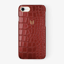 Alligator Case iPhone 7/8 | Red - Rose Gold