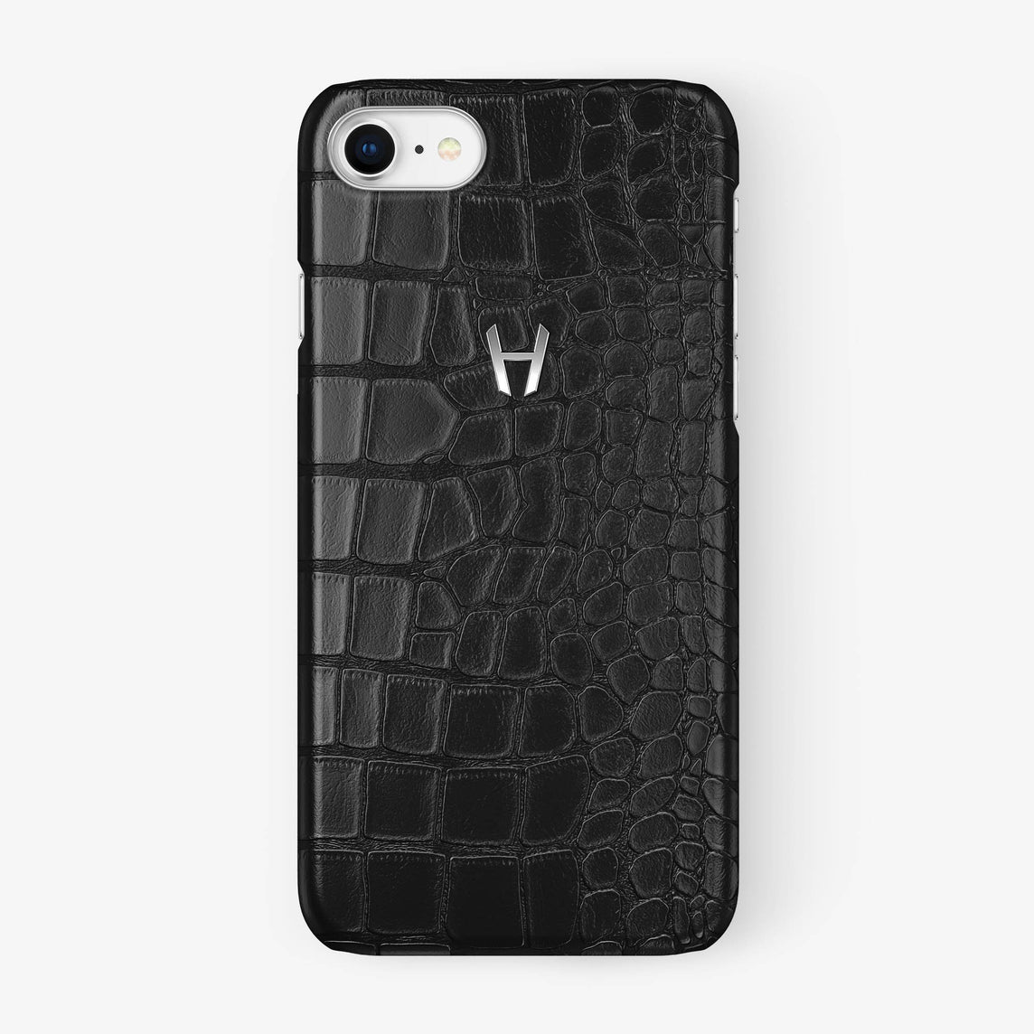 Alligator Case iPhone 7/8 | Black - Stainless Steel