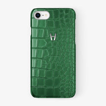 Alligator Case iPhone 7/8 | Green - Stainless Steel