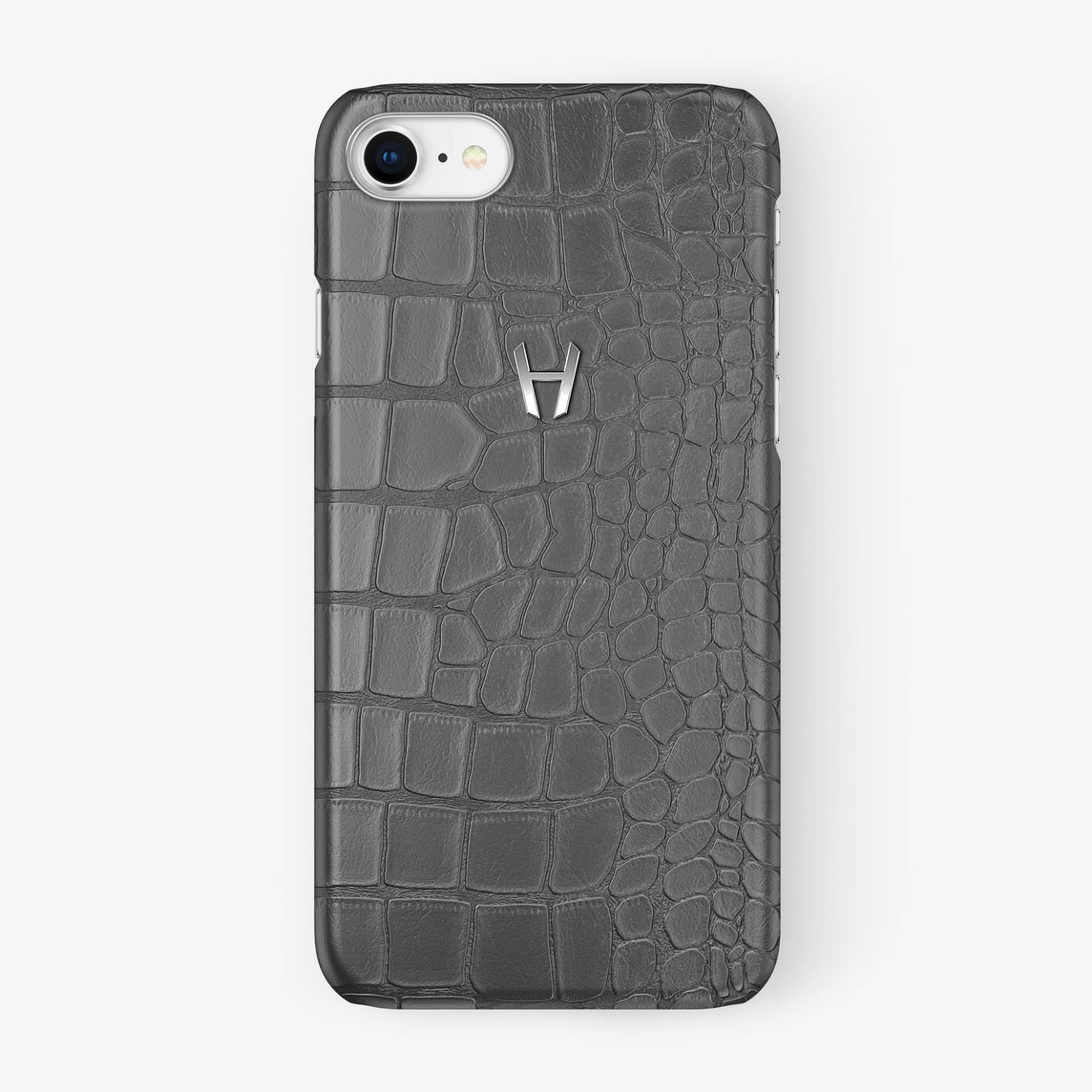 Alligator Case iPhone 7/8 | Grey - Stainless Steel - Hadoro