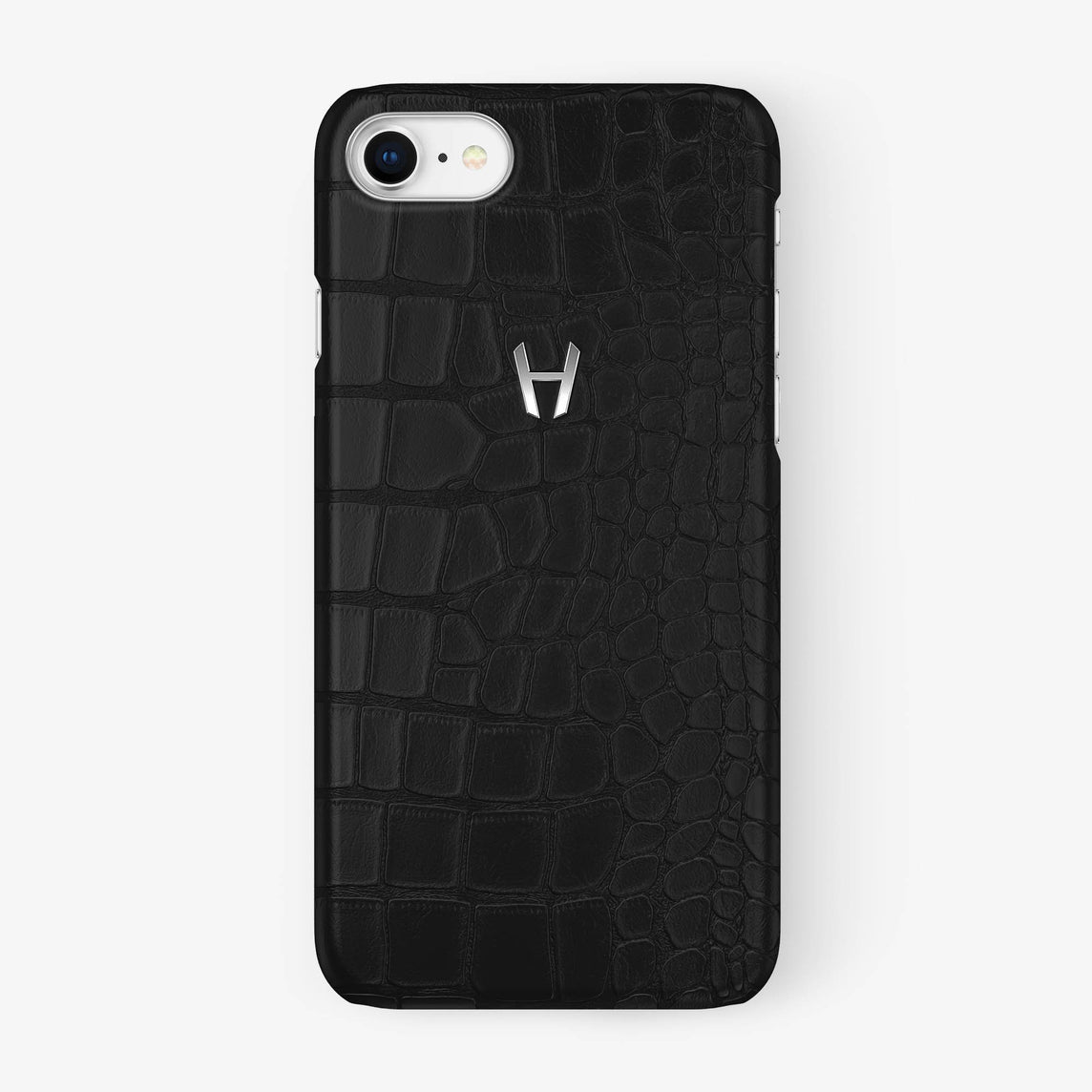 Alligator Case iPhone 7/8 | Phantom Black - Stainless Steel - Hadoro